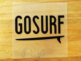 GO SURF 9 黒 白 2枚組 ステッカー 車 かっこいい ブランド おしゃれ ウォールステッカー キャリーバッグ バイク 西海岸 サーフィン カリフォルニア ハワイ surf sup nyc プリンタック 切り文字 【メール便送料無料】