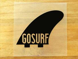 GO SURF 10 黒 白 2枚組 ステッカー 車 かっこいい ブランド おしゃれ ウォールステッカー キャリーバッグ バイク 西海岸 サーフィン カリフォルニア ハワイ surf sup nyc プリンタック 切り文字 【メール便送料無料】