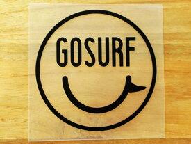 GO SURF 11 黒 白 2枚組 ステッカー 車 かっこいい ブランド おしゃれ ウォールステッカー キャリーバッグ バイク 西海岸 サーフィン カリフォルニア ハワイ surf sup nyc プリンタック 切り文字 【メール便送料無料】