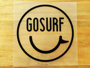 GO SURF 11 黒 白 2枚組 ステッカー 車 かっこいい ブランド おしゃれ ウォールステッカー キャリーバッグ バイク 西海岸 サーフィン カリフォルニア ハワイ surf sup nyc プリンタック 切り文字 【