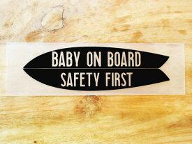 GO SURF 12 黒 白 ステッカー 赤ちゃん乗っています baby on board baby in car チャイルドシート 車 かっこいい ブランド おしゃれ ウォールステッカー キャリーバッグ バイク 西海岸 サーフィン カリフォルニア ハワイ surf プリンタック 切り文字 【メール便送料無料】
