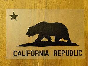 CALIFORNIA REPUBLIC 黒 黒星L ステッカー 車 かっこいい ブランド おしゃれ プリンタック 切り文字 ウォールステッカー バイク 西海岸 熊 星 サーフィン カリフォルニア surf sup nyc【メール便送料無