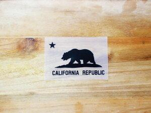 CALIFORNIA REPUBLIC 黒 黒星XS 3枚組 ステッカー 車 かっこいい ブランド おしゃれ プリンタック 切り文字 ウォールステッカー バイク 西海岸 熊 星 サーフィン カリフォルニア surf sup nyc【メール便
