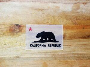 CALIFORNIA REPUBLIC 黒 赤星XS 3枚組 ステッカー 車 かっこいい ブランド おしゃれ プリンタック 切り文字 ウォールステッカー バイク 西海岸 熊 星 サーフィン カリフォルニア surf sup nyc【メール便
