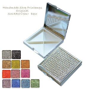 SWAROVSKI one Color スクエア 薄型 サプリメントケース アクセサリー 薬入れ ギフトラッピング無料