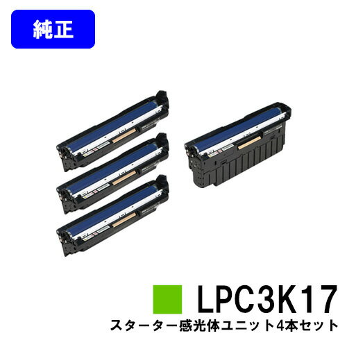 EPSON 感光体ユニット LPC3K17 カラー/モノクロ4本セット【純正品】【即日出荷】【送料無料】【特価品・茶箱スターター感光体】【LP-M8040/LP-M804/LP-S6160/LP-S7100/LP-S7160/LP-S71/LP-S8100/LP-S8160/LP-S81】