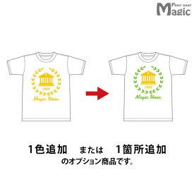 【オプション】Tシャツポロシャツパーカートレーナーバッグエプロン1色または1ヶ所追加10-19枚用