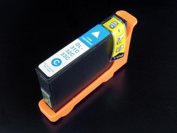 デル(DELL) 31・32・33・34(R0GC8/N06MK/8DNKH/CGPFX )互換インクカートリッジ シアン Dell V525w V725w【メール便送料無料】
