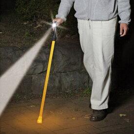 クマザキエイム ソーラー充電式LEDライト安全杖 照らステッキ SL-1121(sb)