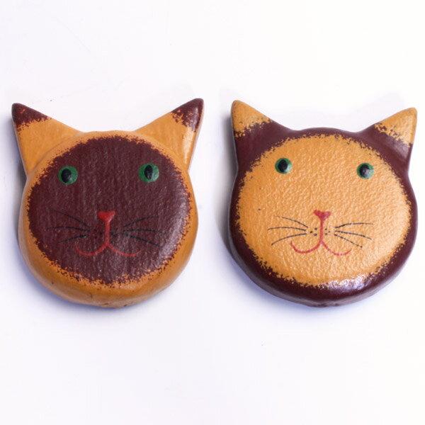 バリ猫 マグネット 2個セット 木彫り にゃんこグッズ【マラソン ポイントアップ】