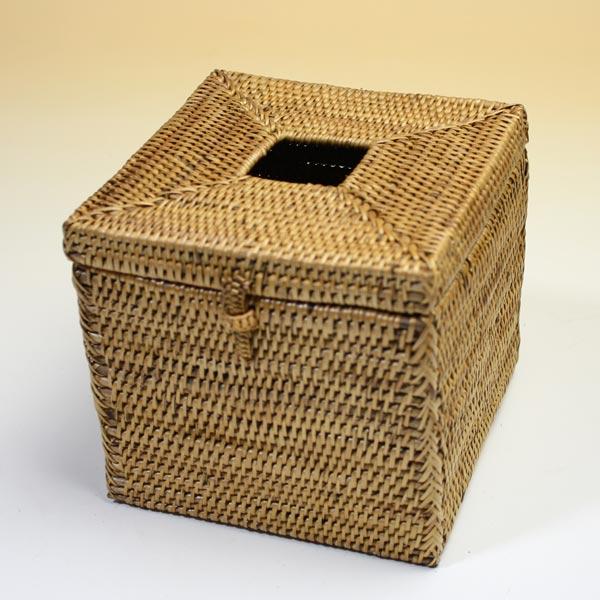 バリ アタ製 トイレットティッシュケース スクエア