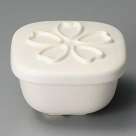 【期間中店内ポイント10倍】おひつ 電子レンジ対応 1合 陶器 桜白小 セラミック