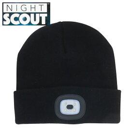 【スーパーセール クーポン】帽子 メンズ レディース ニット帽 LEDライト付 ブラック ナイトスカウト KNS0002 NIGHT SCOUT LED Beanie ビーニー