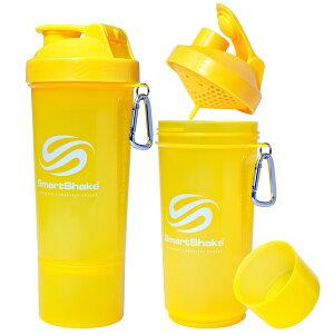 プロテインシェーカー スマートシェイク スリム 500ml ネオンイエロー kss0102サプリメントケース 錠剤 ダイエット ボトル ピルケース