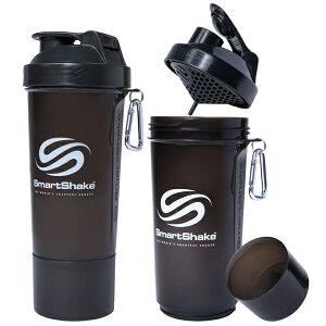 プロテインシェーカー スマートシェイク スリム 500ml ブラック kss0107サプリメントケース 錠剤 ダイエット ボトル ピルケース