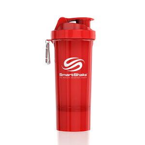 プロテインシェーカー スマートシェイク スリム 500ml ネオンレッド kss0114サプリメントケース 錠剤 ダイエット ボトル ピルケース