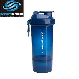 プロテインシェーカー スマートシェイク O2GO ONE ブルー縦ロゴ kss1203シェーカーボトル サプリメントケース