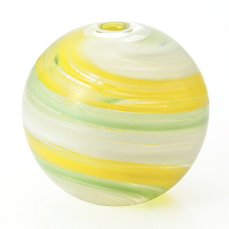 -Made in Japan-round bud vase (water balloons design) little f-71269 vases and Adelia / Ishizuka glass and glass products