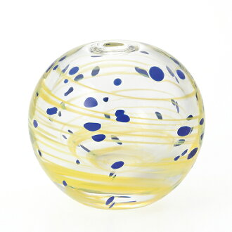 -Made in Japan-round bud vase (water balloons design) starry night f-71270 vases and Adelia / Ishizuka glass and glass products