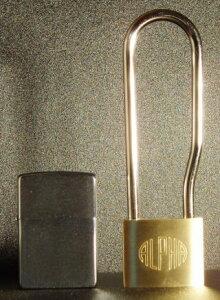 アルファ(ALPHA)吊長 南京錠 40mm(L)(同一キー)吊寸法95mm6個セット