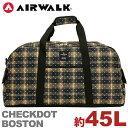 【SALE】 AIRWALK エアウォーク ボストンバッグ スタンダード チェックドットシリーズ ボストン ショルダー付き ショ…