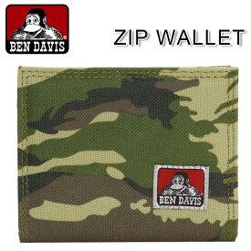 BEN DAVIS ベンデイビス 財布 正規品 小銭入れ コインケース メンズ レディース ユニセックス 男女兼用 ブラック メンズ レディース 男女兼用 ZIP WALLET ジップウォレット BDW-9266