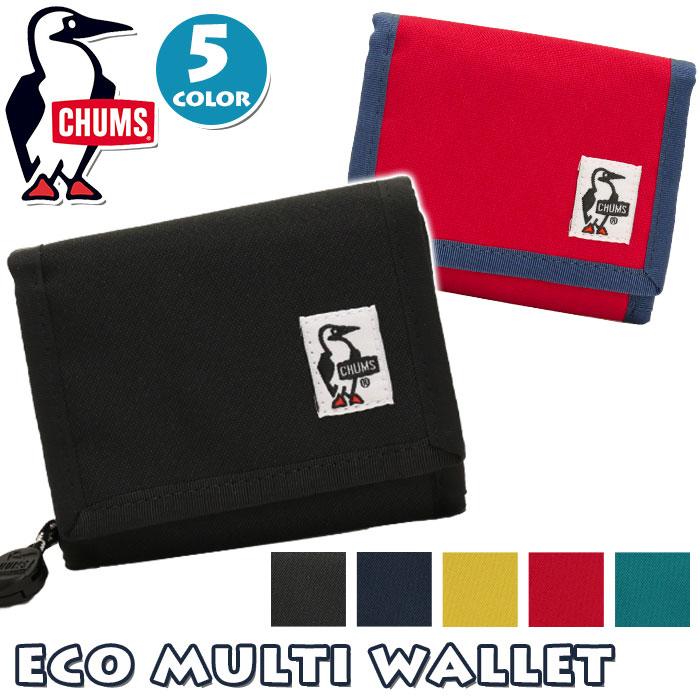 【ポイント5倍】 CHUMS チャムス 財布 正規品 エコ マルチ ウォレット 二つ折り 財布 メンズ レディース 男女兼用 ユニセックス カジュアル 軽量 丈夫 Eco Multi Wallet CH60-2194