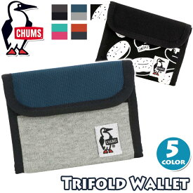 財布 チャムス CHUMS 二つ折り財布 正規品 二つ折 ウォレット マジックテープ ベルクロ スウェット コンパクト 軽量 メンズ レディース 男女兼用 Trifold Wallet Sweat Nylon CH60-2688