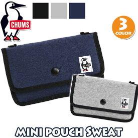 ミニポーチ チャムス CHUMS 正規品 ショルダー付き レディース ミニショルダー ショルダーバッグ ポーチ ショルダーポーチ 2way 軽量 ファッション おしゃれ シンプル スウェット Mini Pouch Sweat CH60-2702