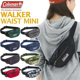 Coleman コールマン WALKER WAIST MINI ウォーカー ウエスト ミニ ウエストバッグ 2020 春夏 新作 正規品 メンズ レディース ウエストポーチ コンパクト 小さめ かばん バッグ ワンショルダー ボディバッグ アウトドア ブランド ファッション アイテム 旅行 黒 ブラック