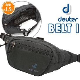 deuter ドイター ウエストバッグ ヒップバッグ 正規品 ボディーバッグ ウエストポーチ スタンダードタイプ ウエスト バッグ 小さめ バッグ A6 1.5L かばん 黒 メンズ レディース 男女兼用 おしゃれ 人気 ベルトI BELT I D39004