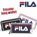 FILA フィラ トリコロール ラウンドファスナー 長財布 財布 メンズ レディース 男女兼用 ロングウォレット 黒 FIMS-0111