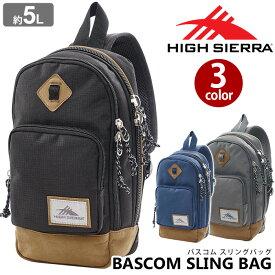 HIGH SIERRA ハイシェラ ボディバッグ ワンショルダー 正規品 スリングバッグ メンズ レディース 男女兼用 ブラック 5L バスコム スリング バッグ BASCOM SLING BAG 104872