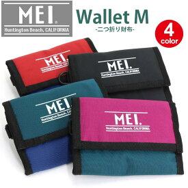 MEI メイ 財布 2019 春夏 新作 リニューアル ロゴ 二つ折り財布 メンズ レディース 男女兼用 人気 軽量 ブラック MEHD102