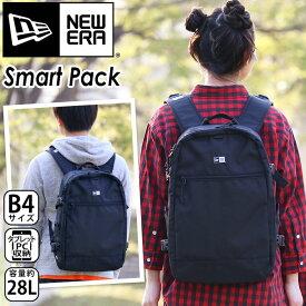 NEW ERA ニューエラ リュック 正規品 リュックサック デイパック バックパック メンズ レディース 男女兼用 ブラック 25L スクエア型 スクエアリュック 大容量 スマートパック Smart Pack