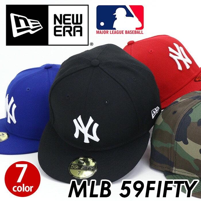 NEW ERA ニューエラ MLB 59FIFTY キャップ 帽子 メンズ レディース 男女兼用 ニューヨーク ヤンキース ブラック レッド ブルー カモ 57.7cm 58.7cm 59.6cm MLB 59FIFTY