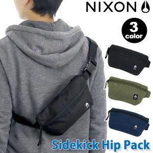 ウエストバッグ NIXON ニクソン正規品 ヒップバッグ ヒップパック バッグ ボディバッグ ワンショルダー ウエストポーチ メンズ レディース 男女兼用 ブラック Sidekick Hip Pack