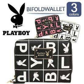 PLAYBOY プレイボーイ 財布 二つ折財布 ボックスロゴ 2つ折れ札入 PBMS-1360