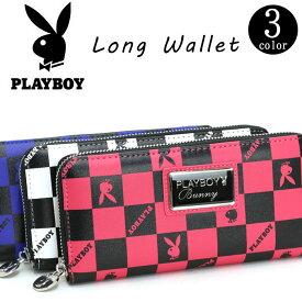 PLAYBOY プレイボーイ フラッグチェック ラウンド財布 財布 長財布 ウォレット ラウンドウォレット PBMS-1481