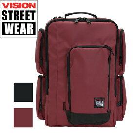 【在庫限りSALE】 リュック VISION STREET WEAR ビジョン ストリートウエア 送料無料 リュックサック バックパック デイパック ブラックレーベル ビジネス ブリーフケース スクエア スクエアリュック 通勤 通学 VSBL508 vision-064