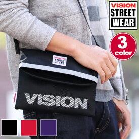 ショルダー VISION STREET WEAR ビジョン ストリートウエア ショルダーバッグ サコッシュバッグ ミニショルダー サコッシュ バッグ メンズ レディース 男女兼用 旅行 メッシュ ポーチ 軽量 VSRP101 vision-066