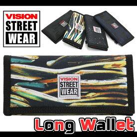 VISION STREET WEAR ビジョン ストリートウェア 長サイフ 長財布 財布 ロングウォレット ウォレット メンズ レディース ユニセックス 男女兼用 学生 総柄 おしゃれ かっこいい マジックテープ チェーン ホルダー ストラップ付 VSGN104