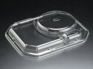 【600点入/ケース】 嵌合蓋 つけ麺蓋穴付 麺用 使い捨て容器 リスパック 弁当容器 00205461