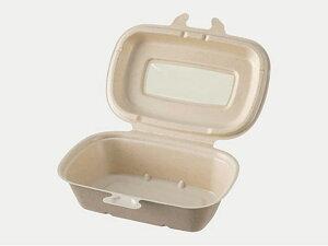 【500枚入/ケース】 弁当容器 BBランチN180-120 ラミ 使い捨て容器 環境対応 パルプモウルド パックスタイル 178×118×48mm 00657841