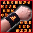 リストバンド『 A 』〜『M』の刺繍入り色は黒と赤 10個までは「送料164円のメール便発送」も可能です。その場合は必…