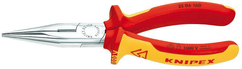 クニペックス(KNIPEX)絶縁ラジオペンチ160mm〔2506-160〕2506160