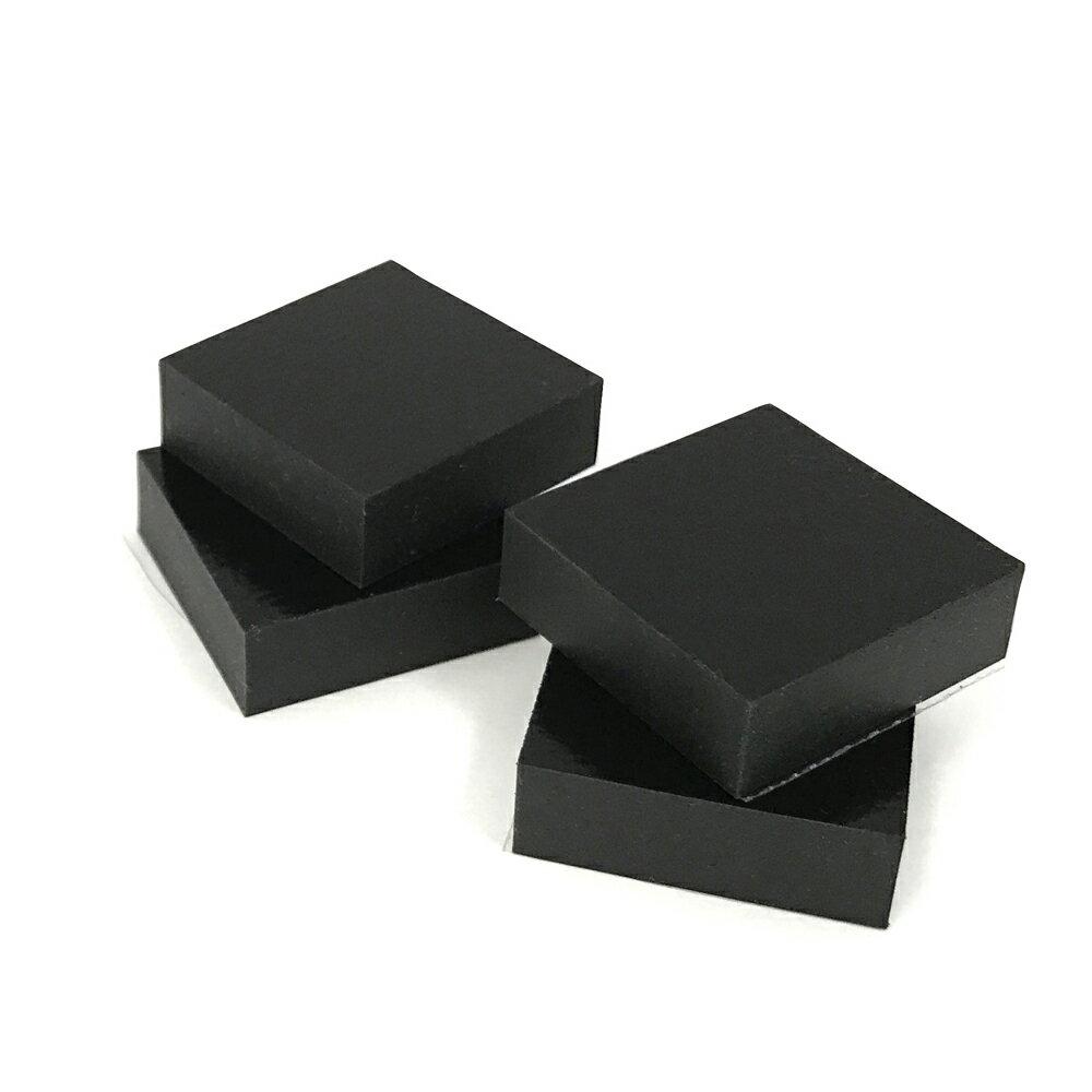 3センチ角ソルボセイン4枚セット(粘着テープなし・黒色)
