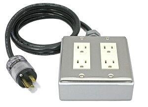 電源タップの最終回答・四個口・1.0m・A2Dシールド電源ケーブル・WATTGATEオスプラグ