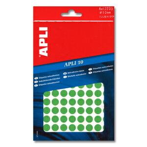 APLI アプリ 手書き丸カラーラベル 126片×8枚 計1008片入 (AP-02733)【文具 デザイン文房具 海外文房具 文房具かわいい おしゃれかわいい ラベルシール ステッカー インクジェット プリンタラ