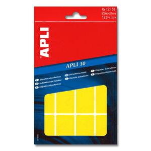 APLI アプリ 手書き角丸カラーラベル 16片×8枚 計128片入 (AP-02754)【文具 デザイン文房具 海外文房具 文房具かわいい おしゃれかわいい ラベルシール ステッカー インクジェット プリンタラ